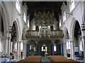 TQ2764 : All Saints church Carshalton - organ by Stephen Craven