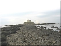 SH3368 : The causeway to St Cwyfan's island by Eric Jones