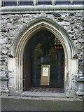 TQ2475 : All Saints Church, Fulham, Doorway by Alexander P Kapp