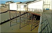 SZ9398 : Pier supports Bognor Regis by P L Chadwick