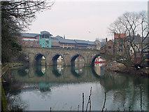 NZ2742 : Elvet Bridge, Durham by Peter Church