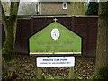 SE0125 : Good Shepherd Catholic Church and Centre, Mytholmroyd, Sign by Alexander P Kapp