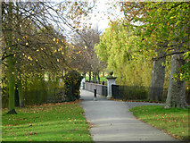 TQ2882 : Path to the Long Bridge, Regent's Park by Stephen McKay