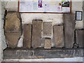 NZ0863 : Cross slabs in the porch of St. Mary's Church, Ovingham by Mike Quinn