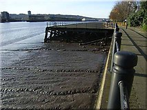 NZ2462 : Hadrian's Way below Dunston Coal Staithes by Oliver Dixon