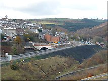 ST1599 : Northern end of the Bargoed bypass by Robin Drayton
