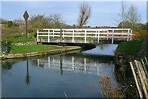 SU3368 : Church swing bridge by Graham Horn