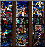 SO5040 : St Anthony the Hermit (stained glass window) by Zorba the Geek