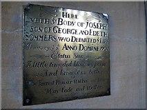 ST6601 : Memorial inscription - St Mary's Church by Sarah Smith
