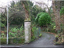 NS3174 : Entrance to Birkmyre Park by Thomas Nugent