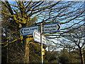 SJ3200 : Crossroads sign by Dave Croker