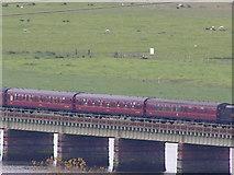 SD0894 : Train crossing Eskmeals Viaduct by N Chadwick