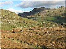 SH5247 : First view of Cwm Ciprwth copper mine by David Medcalf