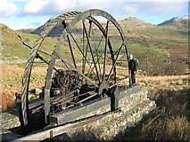 SH5247 : The Cwm Ciprwth copper mine wheel by David Medcalf
