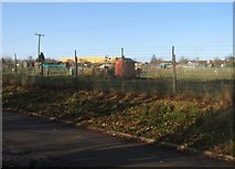 SU6252 : Allotments to the north of Churchill Way by Given Up