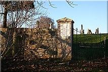 NJ2265 : Entrance to Spynie Kirkyard by Anne Burgess