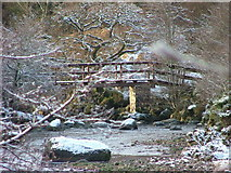 NM8363 : Footbridge over Strontian River by Richard Laybourne