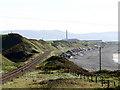 NX9906 : Nethertown Railway Dwellings, Caravan Park and Sellafield by Tony Peacock