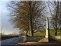 NY7146 : War memorial, Alston by Andrew Smith