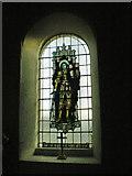 SD7656 : St Bartholomew Church, Tosside, Stained glass window by Alexander P Kapp