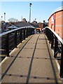 SO8555 : Footbridge over the Worcester and Birmingham Canal by Philip Halling