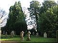 NZ0158 : The churchyard of St. John's Church, Healey by Mike Quinn