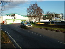 TL8364 : Bury St. Edmunds Asda: Roof and cladding near completion by John Goldsmith