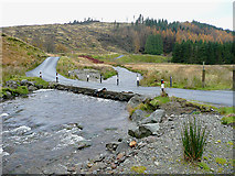 SN8355 : Afon Irfon, below the Devil's Staircase, Powys by Roger  Kidd
