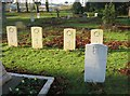 SU6352 : WW1 War Graves - South View cemetery by Given Up