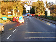 TM3569 : Ongoing Roadworks on A1120 at Peasenhall by Geographer