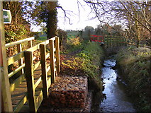 TM3569 : Footpath to Bruisyard Road and the River Yox by Geographer