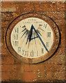 NY3971 : The sundial clock at St Andrew's Church by Walter Baxter