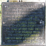 TG2834 : The Trunch Town Pump - plaque by Evelyn Simak