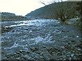 SN7071 : Gravel deposits in the Afon Ystwyth by Rudi Winter