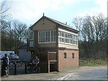 SK1461 : Cyclists at Hartington Signal Box by John H Darch