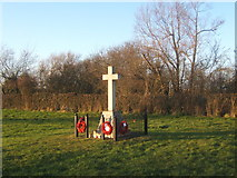 TM0652 : War memorial, Barking Tye by Andrew Hill