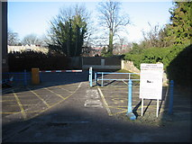 SU6351 : Car park entrance by Sandy B