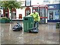 SJ9494 : Emptying the Litter Bins by Gerald England