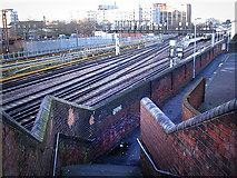 SU6400 : Portsmouth and Southsea Station from footbridge Railway View by Chris Gunns