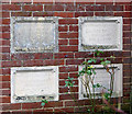 TG2227 : A converted Wesleyan Chapel - memorial stones by Evelyn Simak