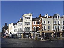 TQ3296 : Corner of Church Street and Silver Street, Enfield by Christine Matthews