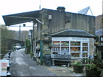 SD9827 : The Green Shop, Hebble End Mill by Alexander P Kapp