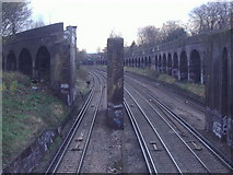 TQ2475 : Fawe Park Road railway by David Howard