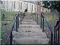 NZ3156 : Old Step Leading to Church on the Hill by Dianne Snowdon