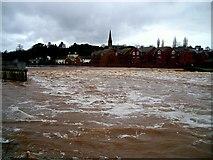 SX9291 : Tempestuous River Exe by Jan Baker