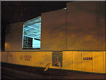 TL8364 : Missing panel reveals roof structure, Asda store by John Goldsmith