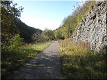SK1272 : Course of Midland Railway through Chee Dale by David Stowell