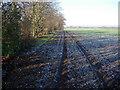 TL5855 : Track along Heath Belt by Hugh Venables