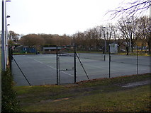 TL2863 : Papworth Everard Tennis Courts by Geographer