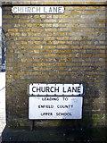 TQ3296 : Church Lane, Enfield by Christine Matthews